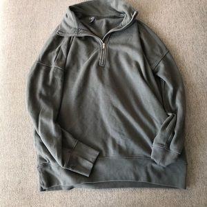 Aerie Half Zip Sweatshirt